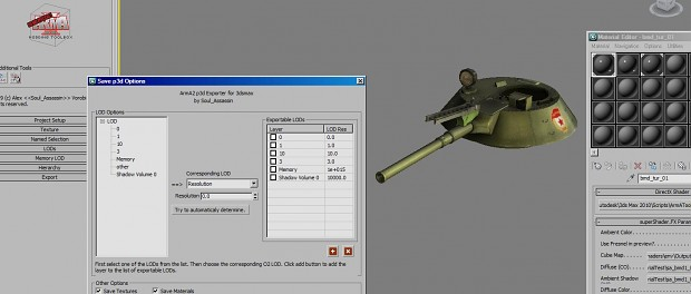 ArmA Tool Box v1.1 for 3D Studio Max