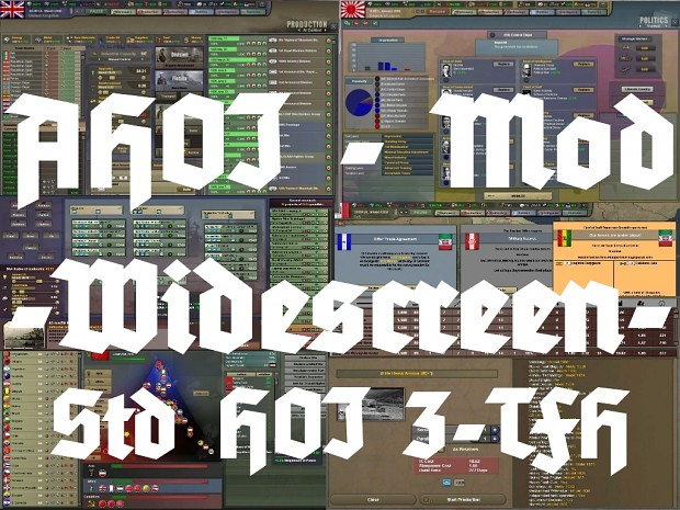 AHOI Mod - Widescreen GUI for Std HOI3-TFH-4.01