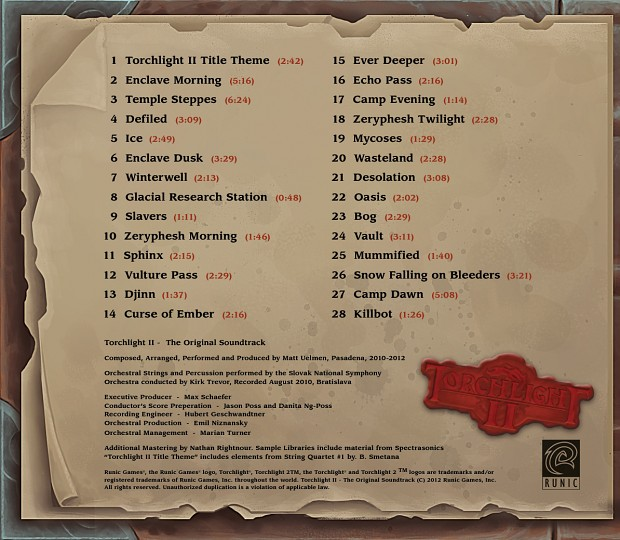 Torchlight II soundtrack