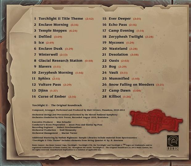 Torchlight II soundtrack