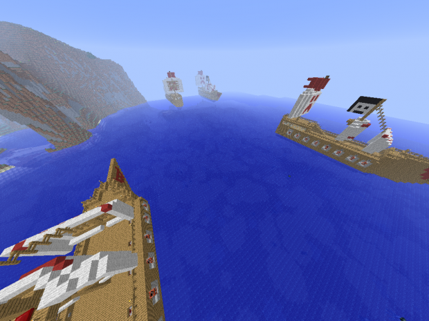 Minecraft Ship War Battle 2.1