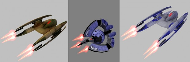 Vulture Droid and Droid Trifighter model pack