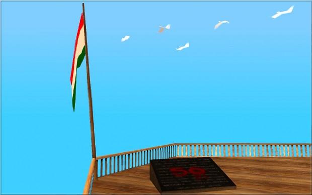 GTA San Andreas - Magyar zászló a Chiliad hegyre