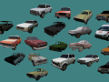 Large collection of Russian cars for mappers