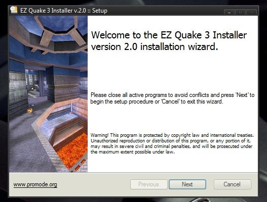 ezQuake 3 installer v2.1