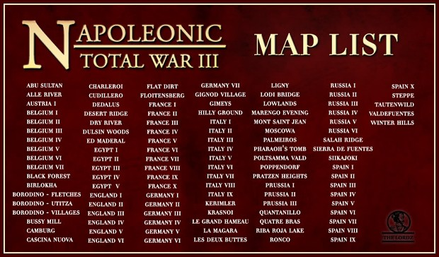 Napoleonic: Total War 3 - Map Pack