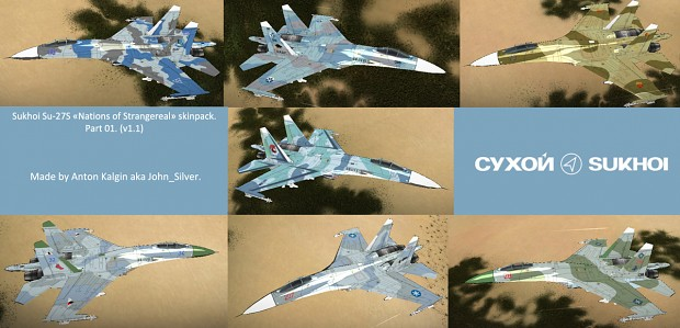 Su-27S Nations of Strangereal skin pack v1.1