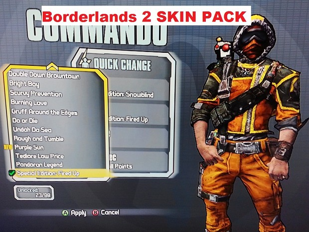Borderlands 2 All Character/Cars Skins