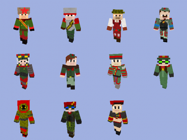 Minecraft - RA3 Paradox: Soviet Infantry Skins