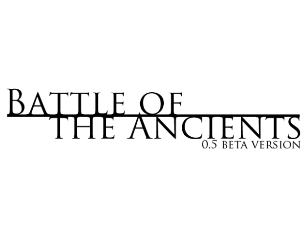 Battle of The Ancients Alpha Release Build 5.5