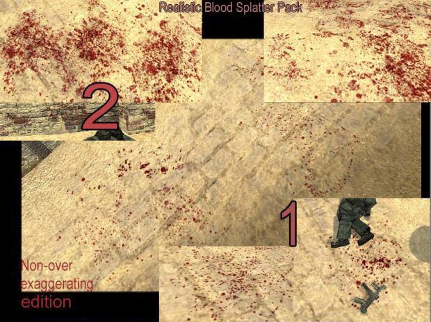 Realistic Blood Splatter Pack