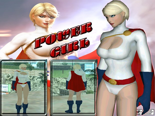 POWER GIRL BY CYRAX