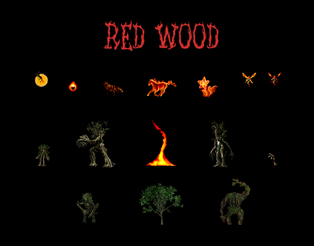 Red Wood, Burning Forest