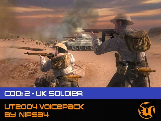 CoD 2: UK - Soldier Voice Pack