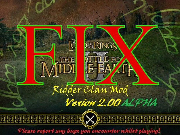 Ridder Clan Mod Alpha 2.00 - Fix