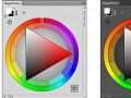 Demo of Photoshop Color Wheel panel