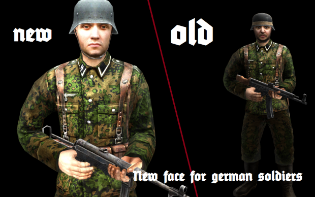 New face for german soldiers of my mods