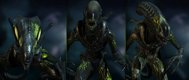 AvPGalaxy - Damaged Aliens Skins