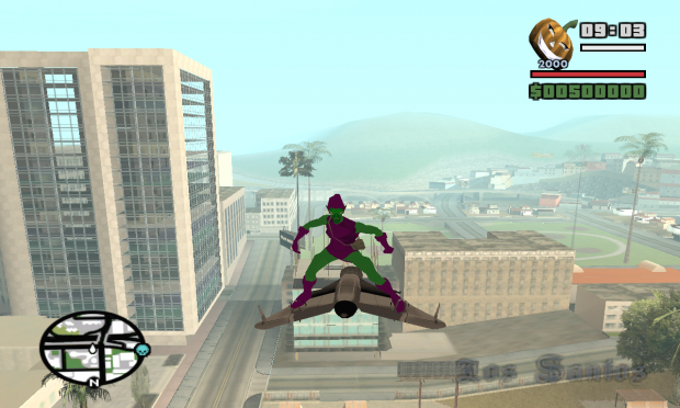 Green Goblin with jet pack