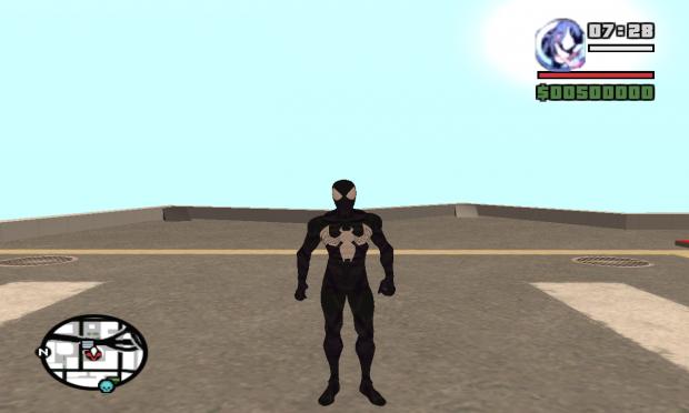 Symbiote Spiderman ped