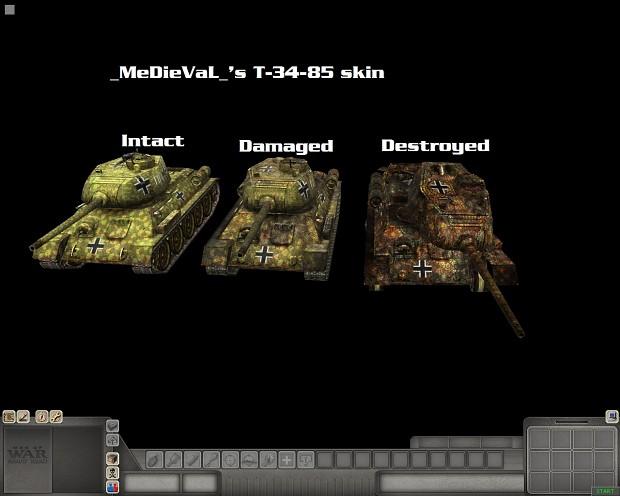 "T34 85 ""Beutepanzer"" skin"