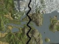 huge map divided