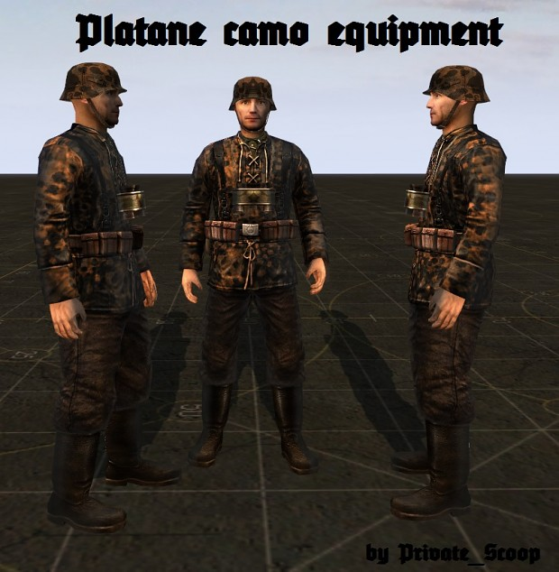 German Platane autumn camo equipment (SS)
