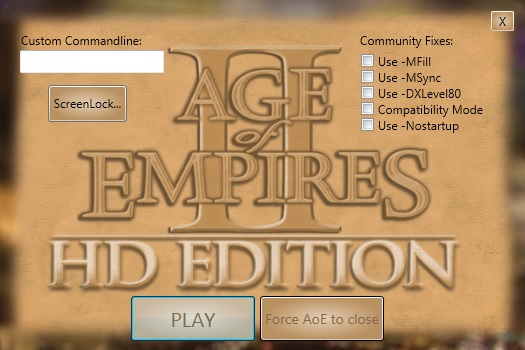 Age of Empires II: HD Custom Launcher