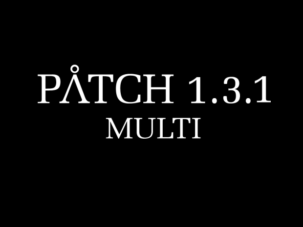 SGEAW Patch1.3.1(Hotfix for the old 1.3 - not TPC)
