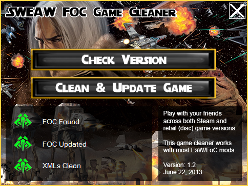 FOC Game Cleaner & Synchronizer
