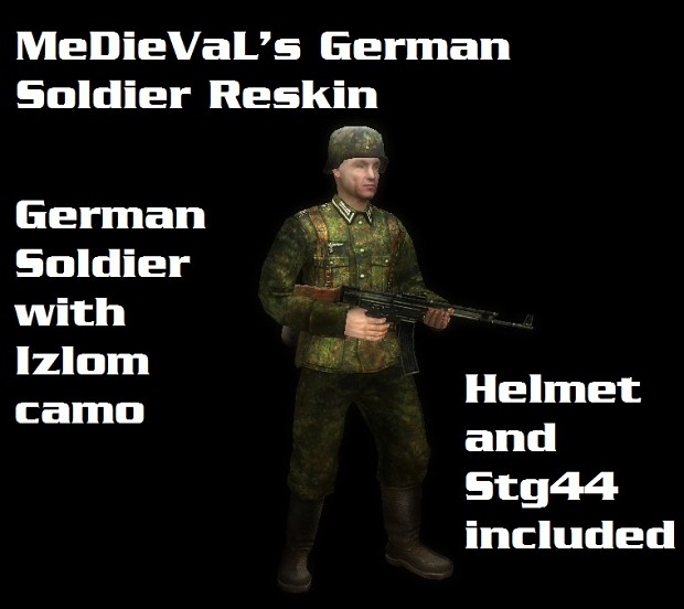 *FICTIONAL*German Soldier with Izlom camo