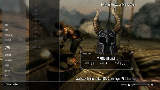 Craftable Viking Helmet