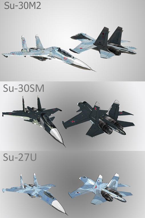 Su-30SM Su-30M2 Su-27U