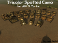 Tricolor Spotted Camo Skins for all U.S. Tanks[HD]
