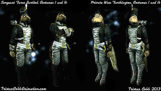Farus and Wess - UT3 Character Models