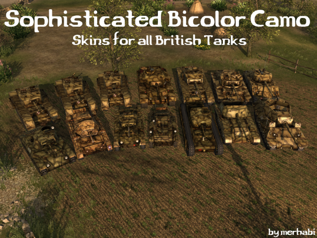 Sophisticated Bicolor Skins for all GB Tanks [HD]