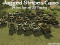 Jagged Stripes Skins for all U.S. Tanks [HD]