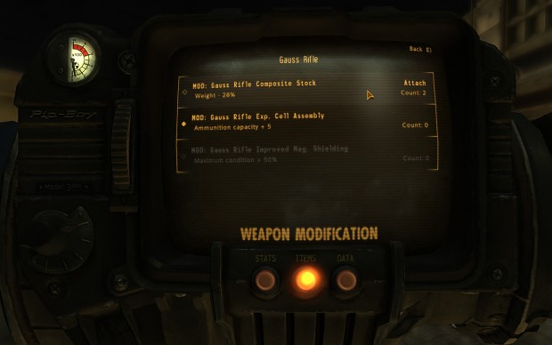Weapon Mod Menu