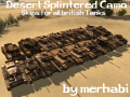 Desert Splintered Camo Skins for all British Tanks
