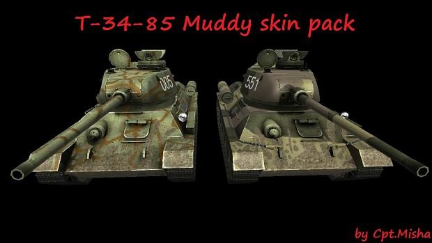 T-34-85 Muddy Skin Pack