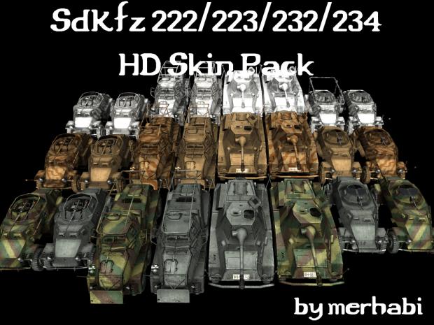 SdKfz 222/223/232/234 HD Skin Pack