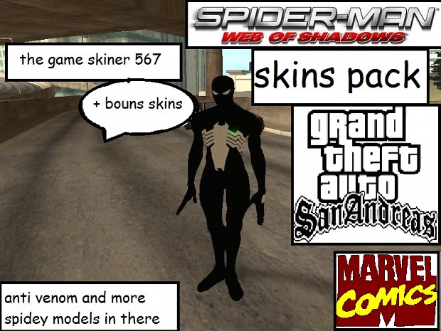 spider man wos pack gta sa