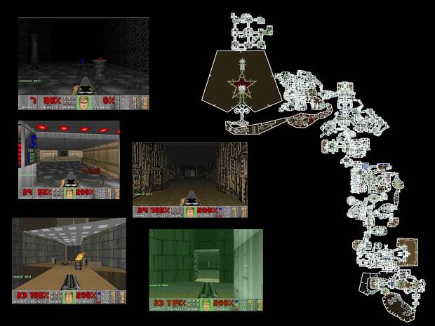 Doom 1 episode 1 using Doom 2 engine