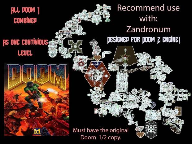 Full Doom 1 on 1 level with plenty of bugs