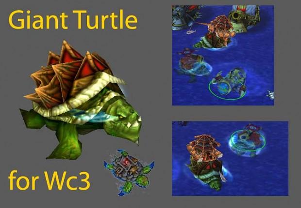 Adjuntar espinas a al caparazón de las tortugas verdes y rojas  Gianturtle