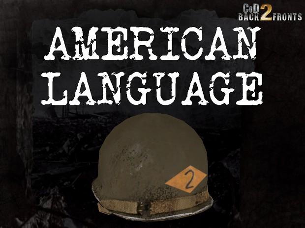 CoD2 American language (Voice Addon)