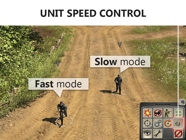 Infantry speed control