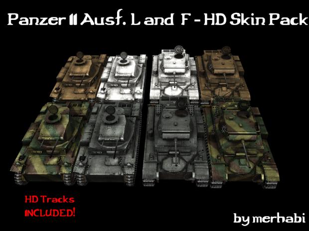 PzKpfw II Ausf. L & F HD Skin Pack