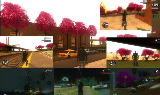 GTA SA Shenmue Cherry Blossom Trees - By iTakumi