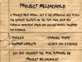 Project Melancholia Part 1 Depression